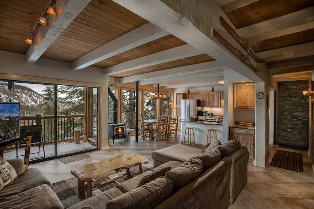interior view of Mammoth condo great room