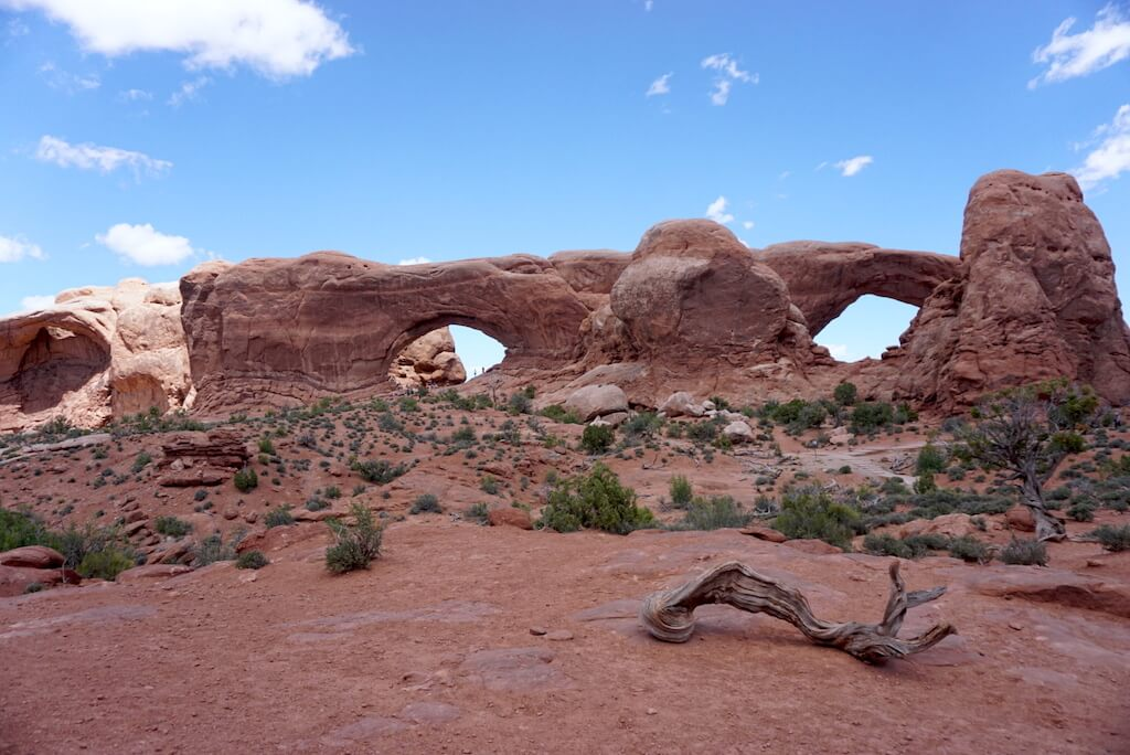 natural sandstone arches in Arches National Park