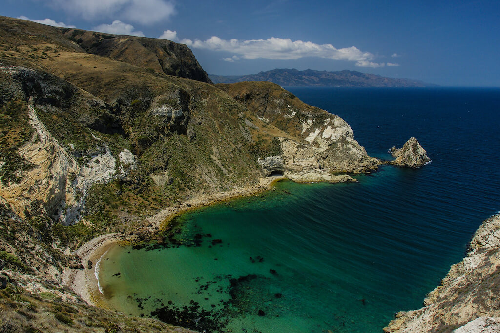 Turquoise bay in Channel Islands