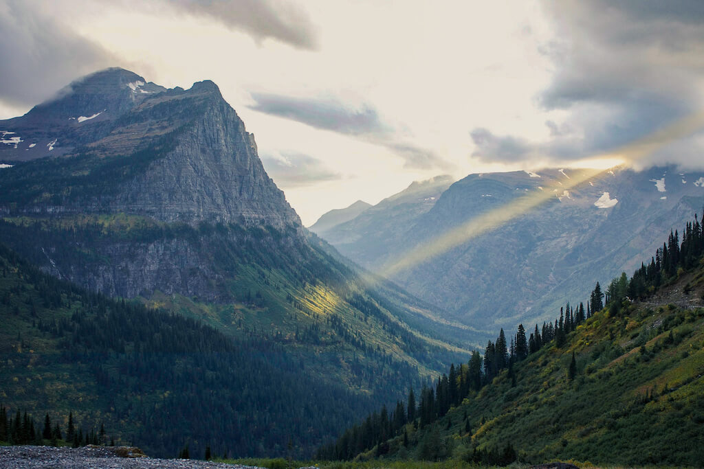 Mountains in Glacier National Park