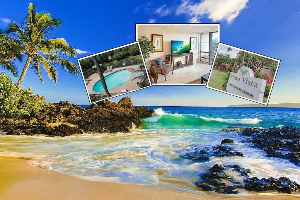 ocean view and apartment interior