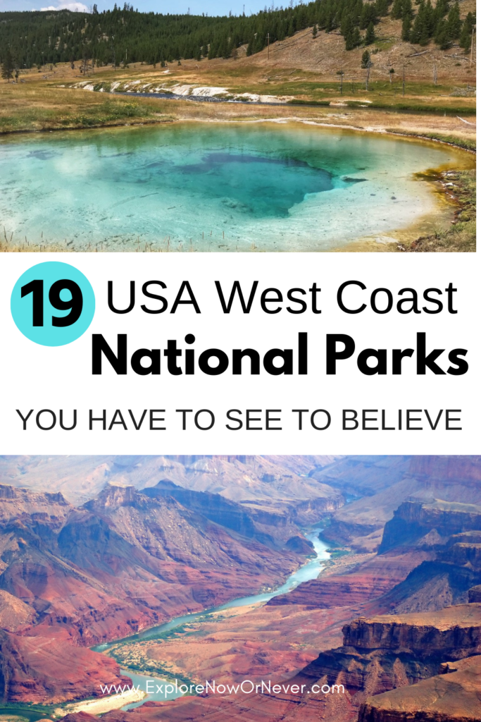 Looking for the best USA national parks in the west? Explore the most beautiful canyons, scenic vistas and bucket list hikes here. USA National Parks | USA National Parks road trip | national parks USA | Grand Canyon travel tips | Yellowstone travel tips