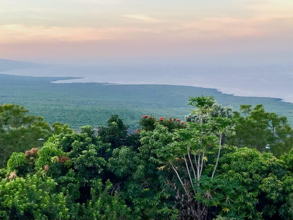 sunrise over Kona coast