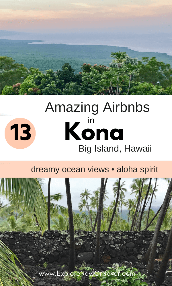 Wondering where to stay on Hawaii's Big Island? This is a list of epic oceanfront condos, bucket list homes for indoor-outdoor living, and other amazing Kona Airbnbs. Where to stay in Kona Hawaii | Kona Airbnb | Kona Hawaii condos | Big Island itinerary
