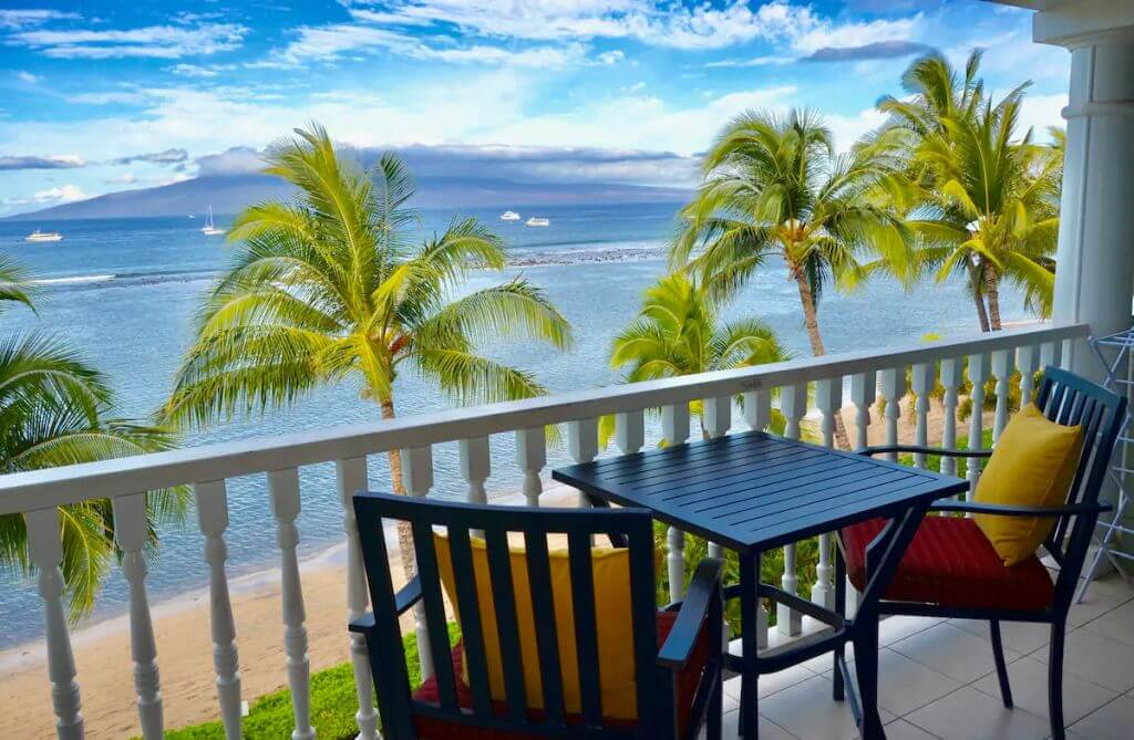 beach and ocean view from Lahaina studio