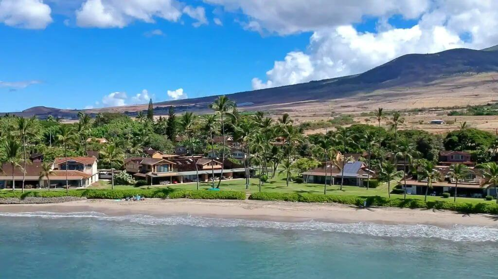 View of home from the ocean near Lahaina
