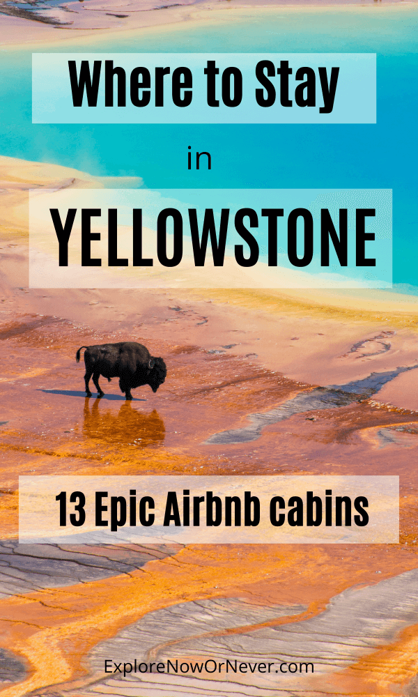 Looking for the best Airbnb cabins in Yellowstone National Park? Here are 13 incredible places to stay—with gorgeous mountain views and wildlife out your window—organized by each of the park's 5 entrances. Yellowstone National Park | Yellowstone travel tips | where to stay in Yellowstone