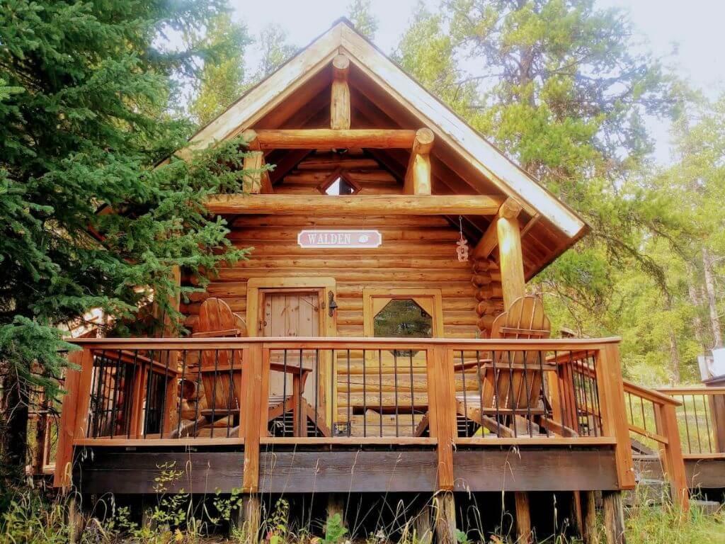 walden cabin outside