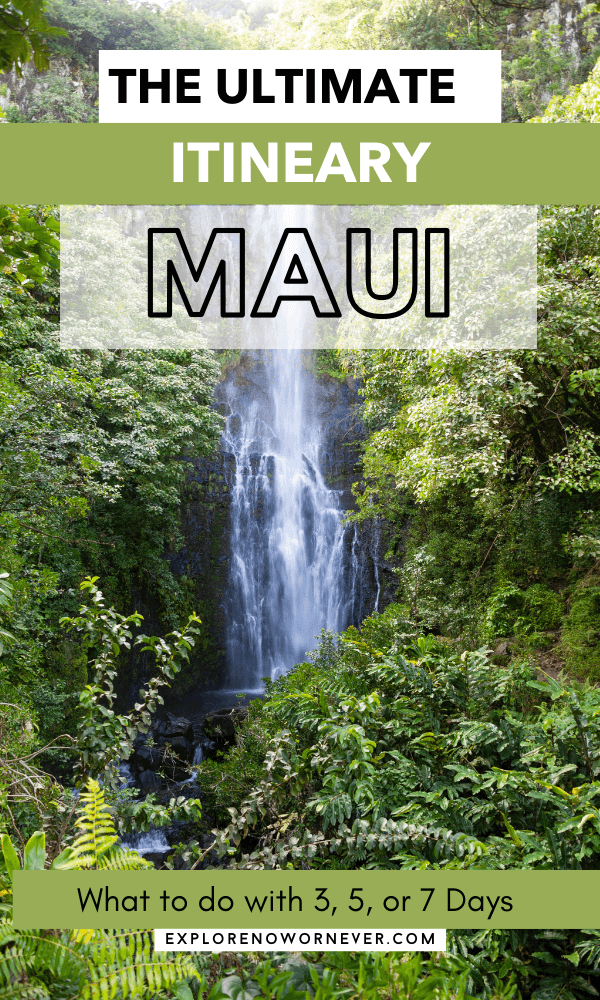 Looking for the ultimate Maui itinerary? From best beaches to driving the Road to Hana, this is a detailed list of what to do and where to stay if you have 3, 5, or 7 days on Maui. Read more here. Maui Hawaii things to do in | Maui itinerary | Hawaii bucket list | Maui travel guide