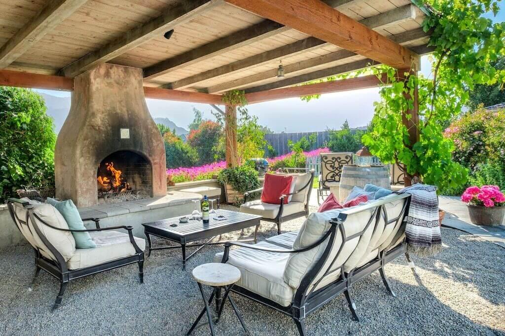 romantic outdoor patio view