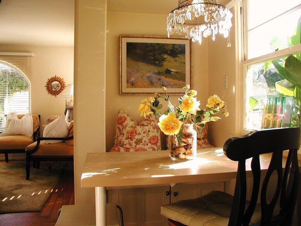 part of bedroom interior