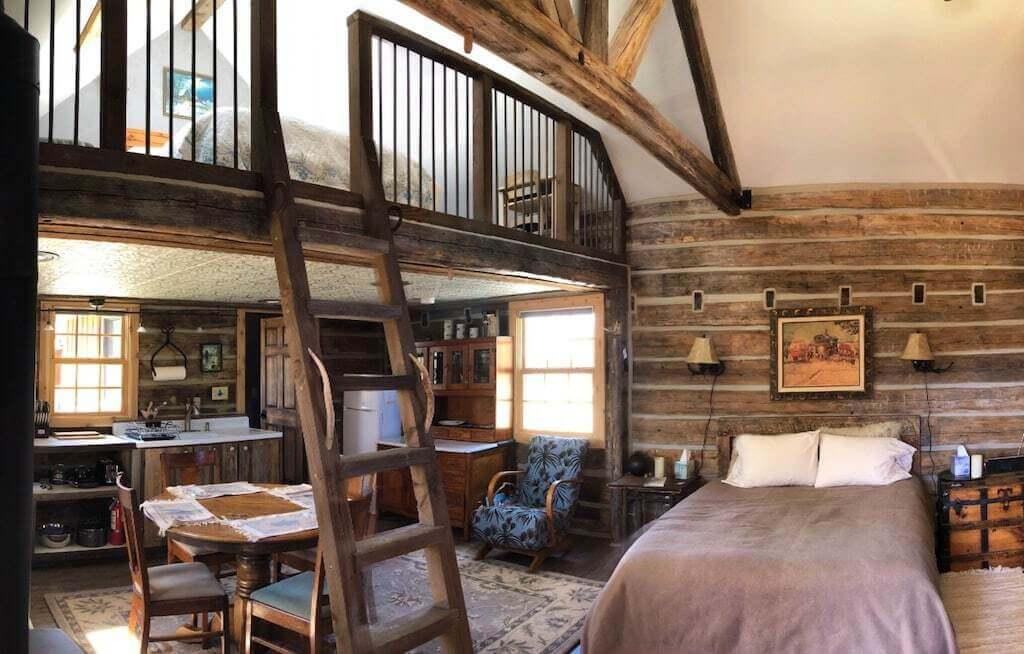 cabin bedroom view