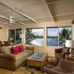 living room interior view of black sand beach