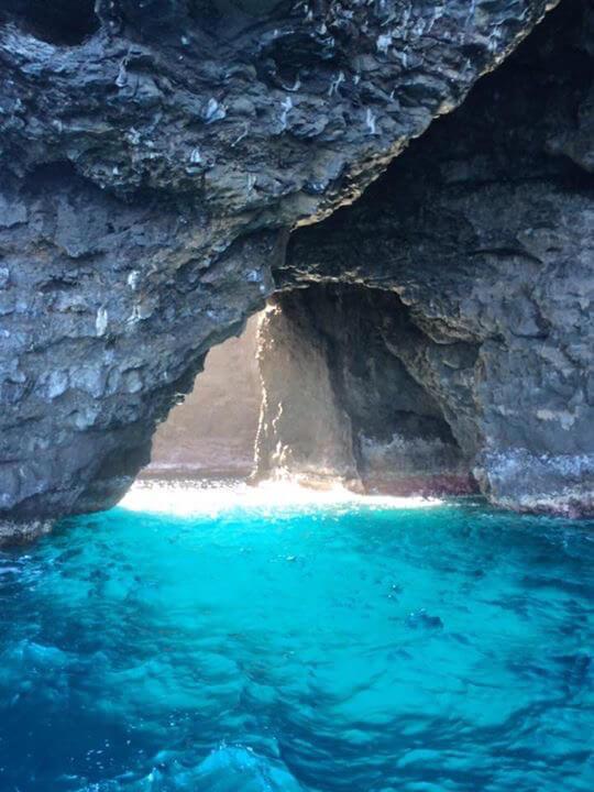 sea cave on Napali Coast
