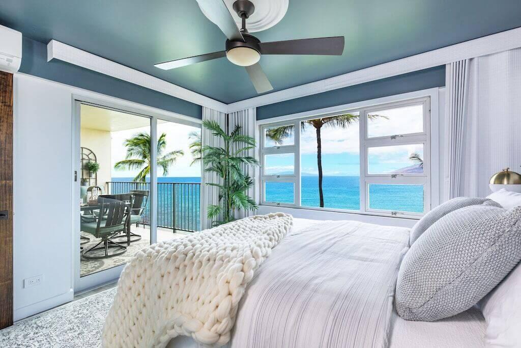 bedroom interior ocean view