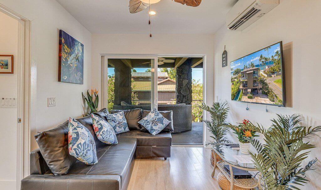 beach house living room interior