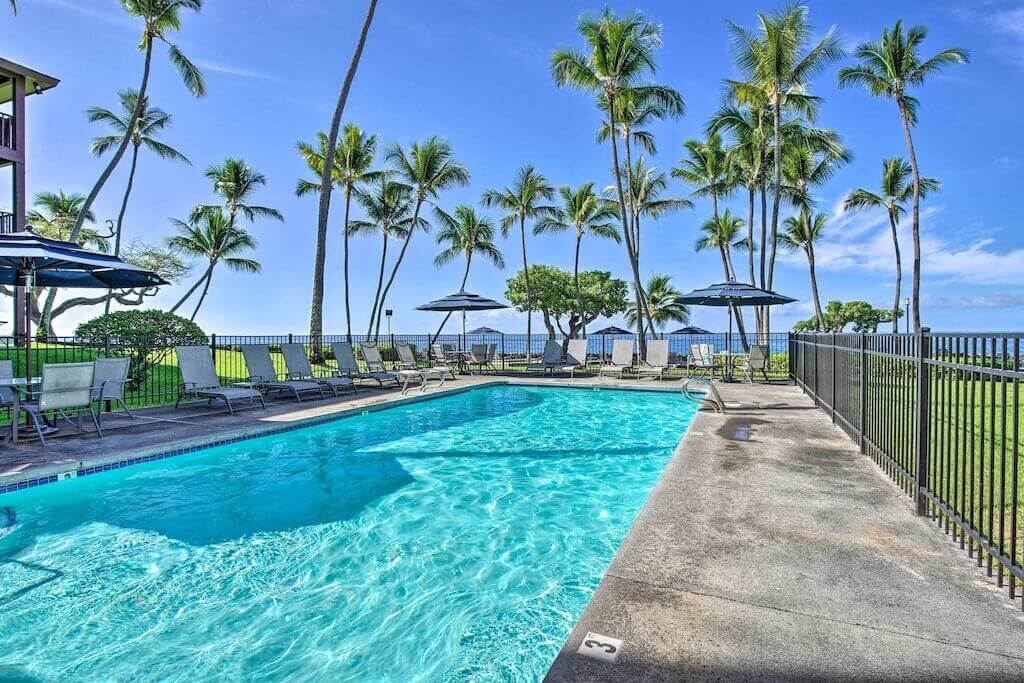 outdoor pool and ocean view
