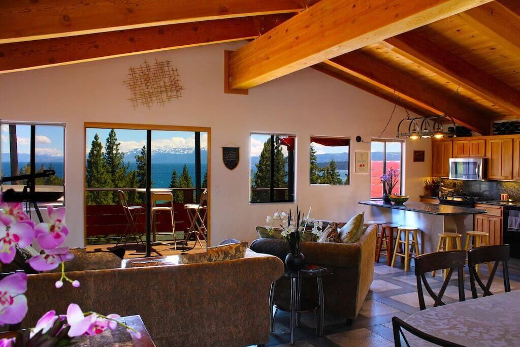 cabin interior view