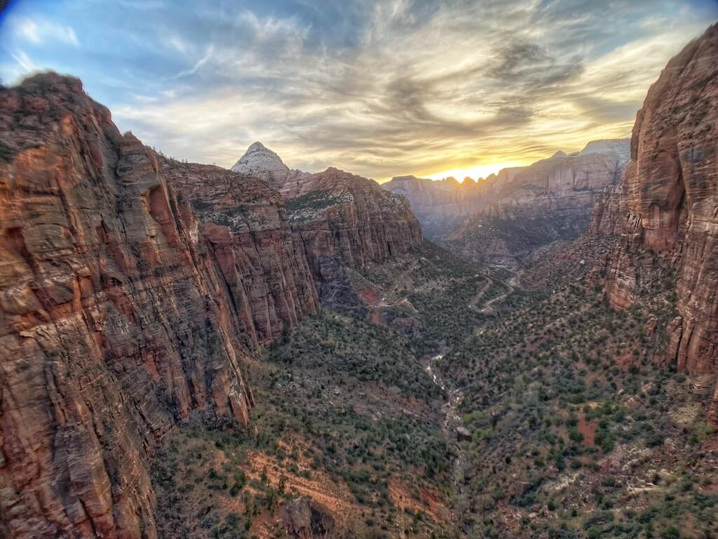 View of Zion Canyon from Overlook Point