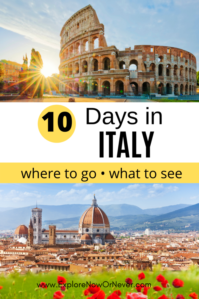 Looking for the ultimate 10 day Italy itinerary? Begin in Rome, then head to Umbria (Perugia and Assisi), Tuscany (Florence, Siena, Cinque Terre) and beautiful Lake Como before flying home from Milan. Read more here.
