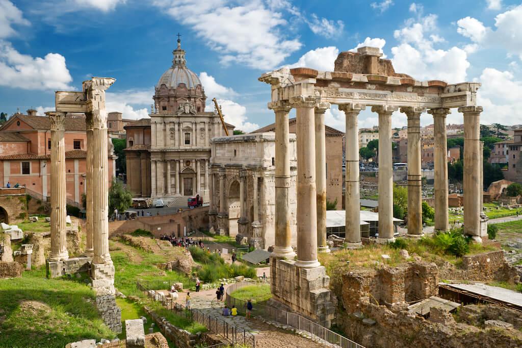 Tall pillars in Roman Forum