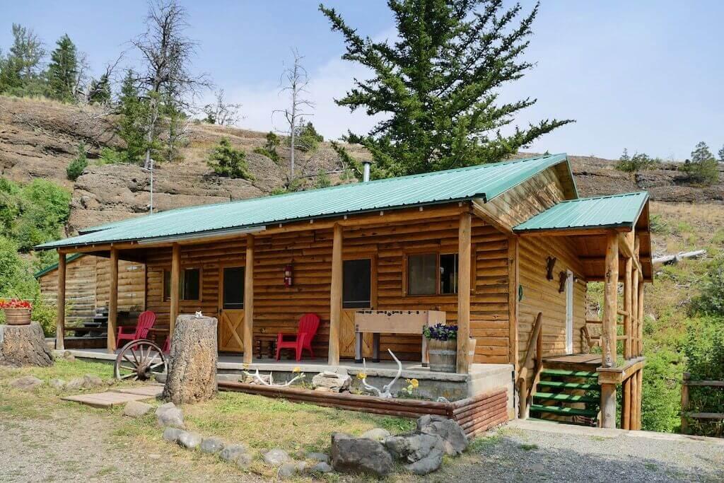Yellowstone cabin exterior