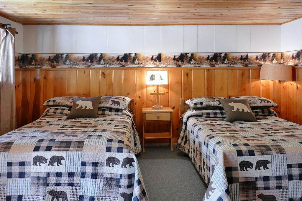 cabin interior with two twin beds