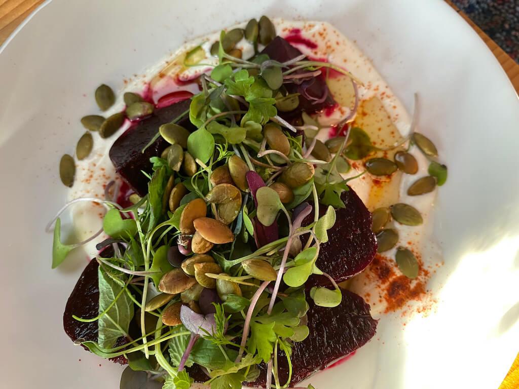 Beet salad at Duck Soup Restaurant