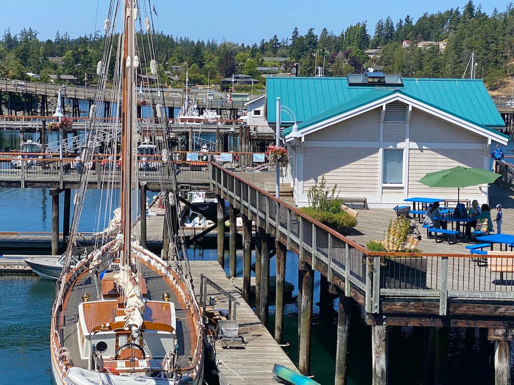 marina with boats at Friday Harbor