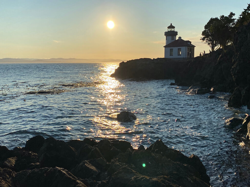 lighthouse at Lime Kiln Point