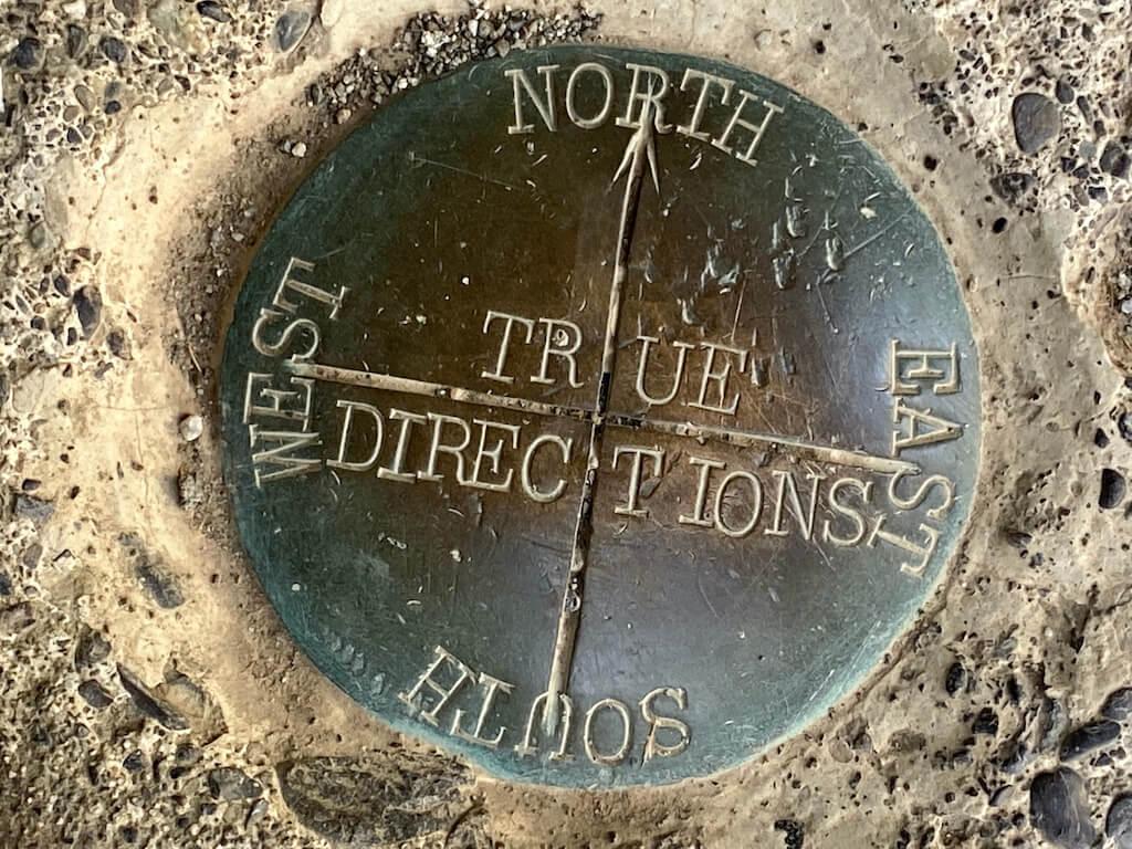 National parks metal compass