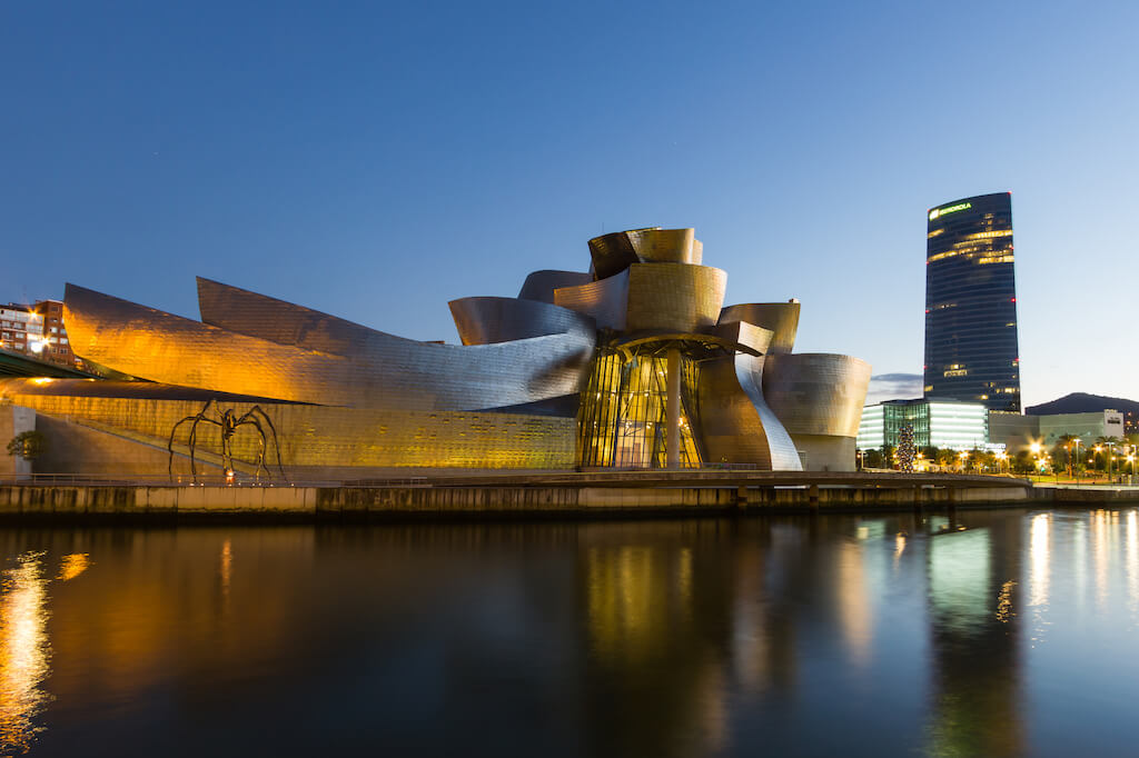 The Guggenheim Museum Bilbao is a museum of modern and contemporary art, designed by Canadian-American architect Frank Gehry, and located in Bilbao, Basque Country, Spain.