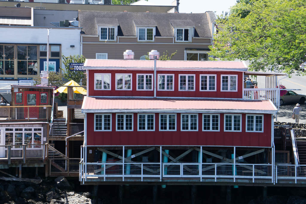 red building at Friday Harbor