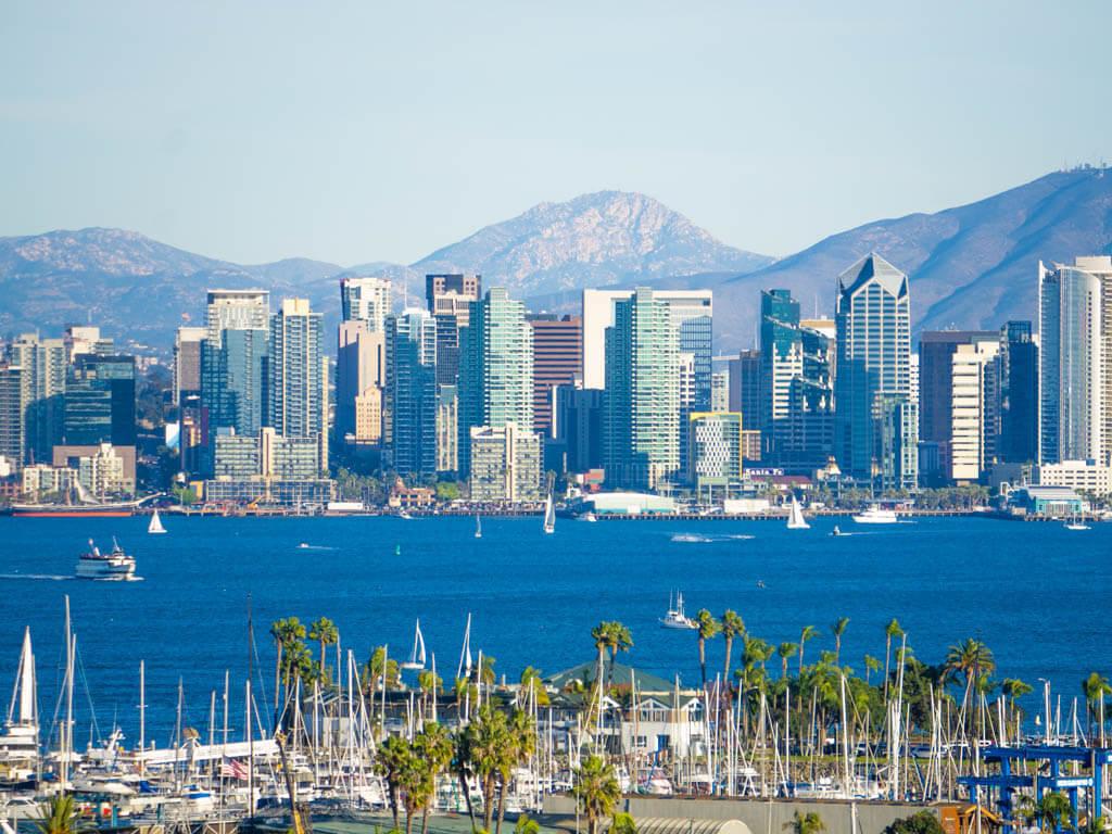 San Diego skyline across the bay