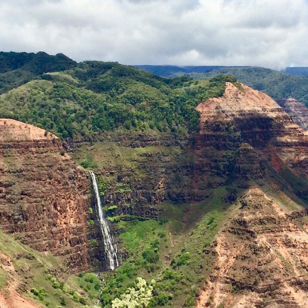 waterfall in scenic Waimea Canyon