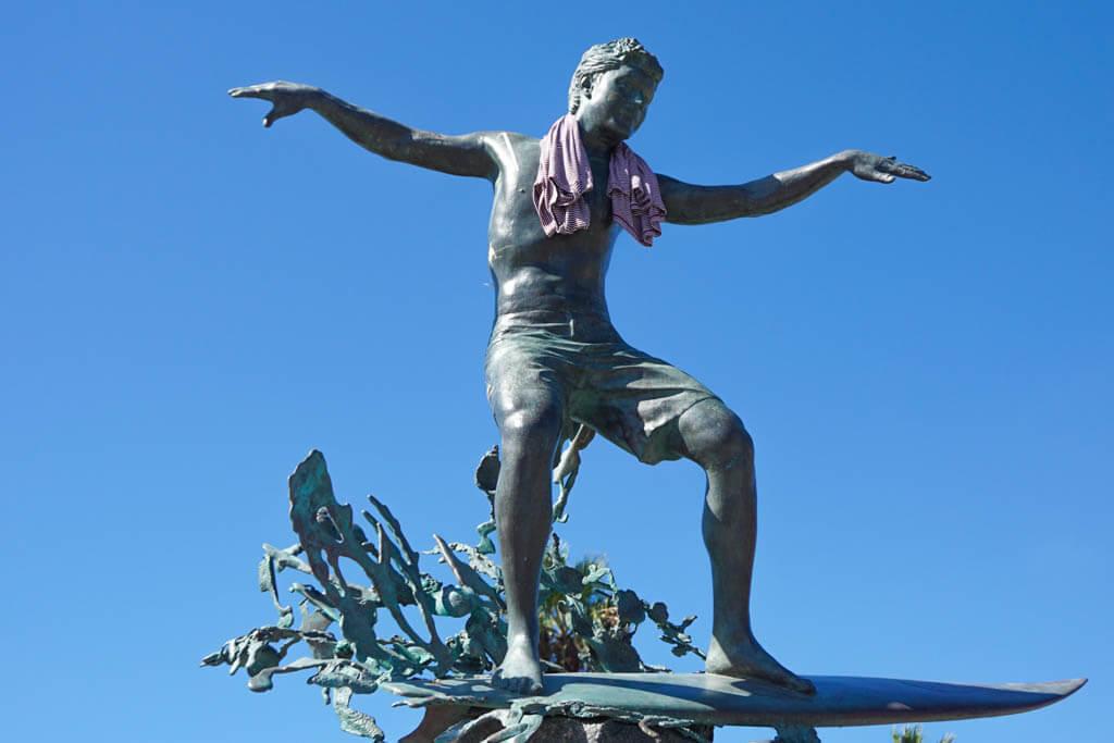 surfer statue