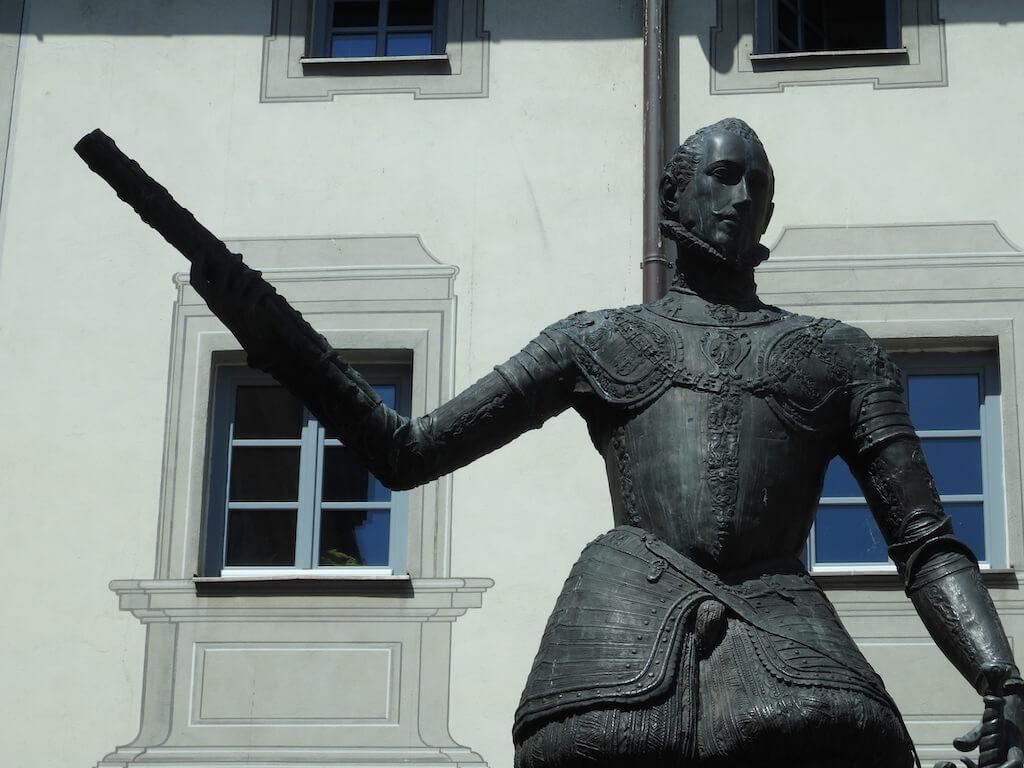 statue in a square
