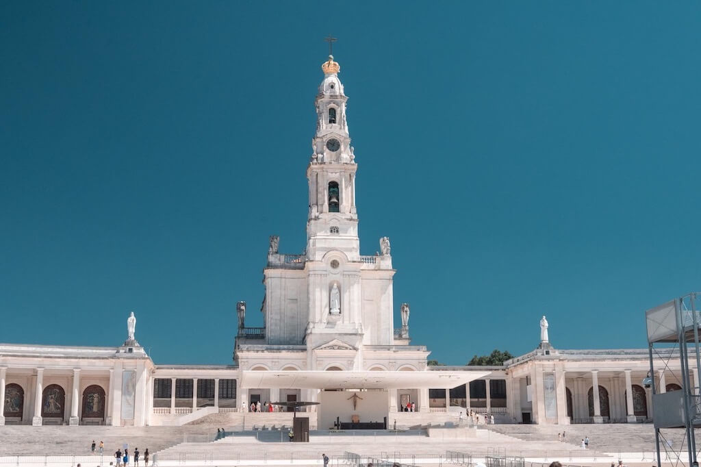 white tower of Our Lady of Fatima