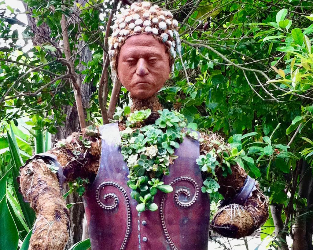 colorful garden statue
