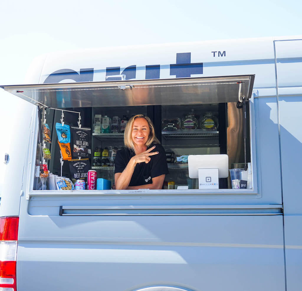 woman in a food truck