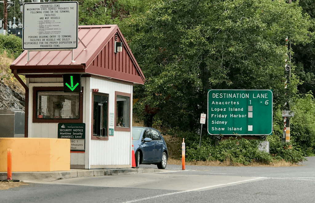 the ferry office at Orcas Island