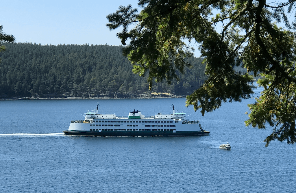 ferry with beautiful scenery